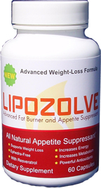 Lipozolve's powerful fat burning formula helps you burn fat and loose weight fast suppressing the app